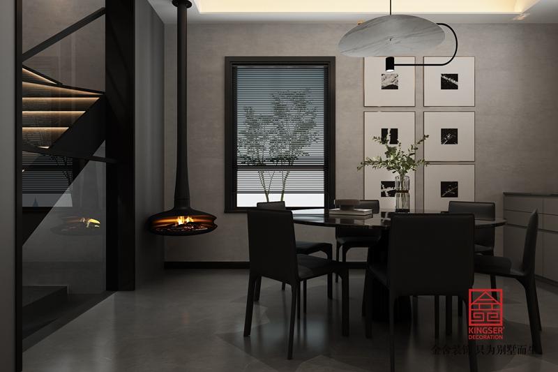 衡水南苑别墅320平米装修-现代简约-餐厅