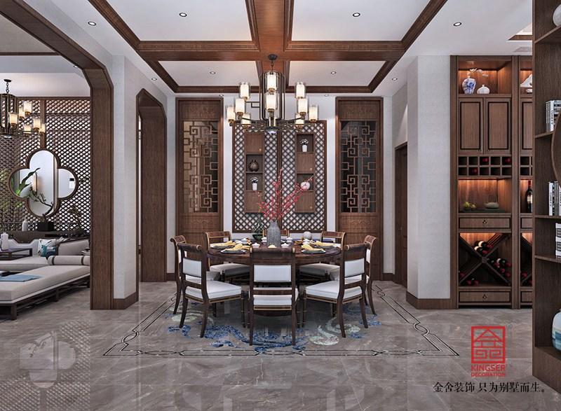 大者别墅290平米装修-中式风格-餐厅
