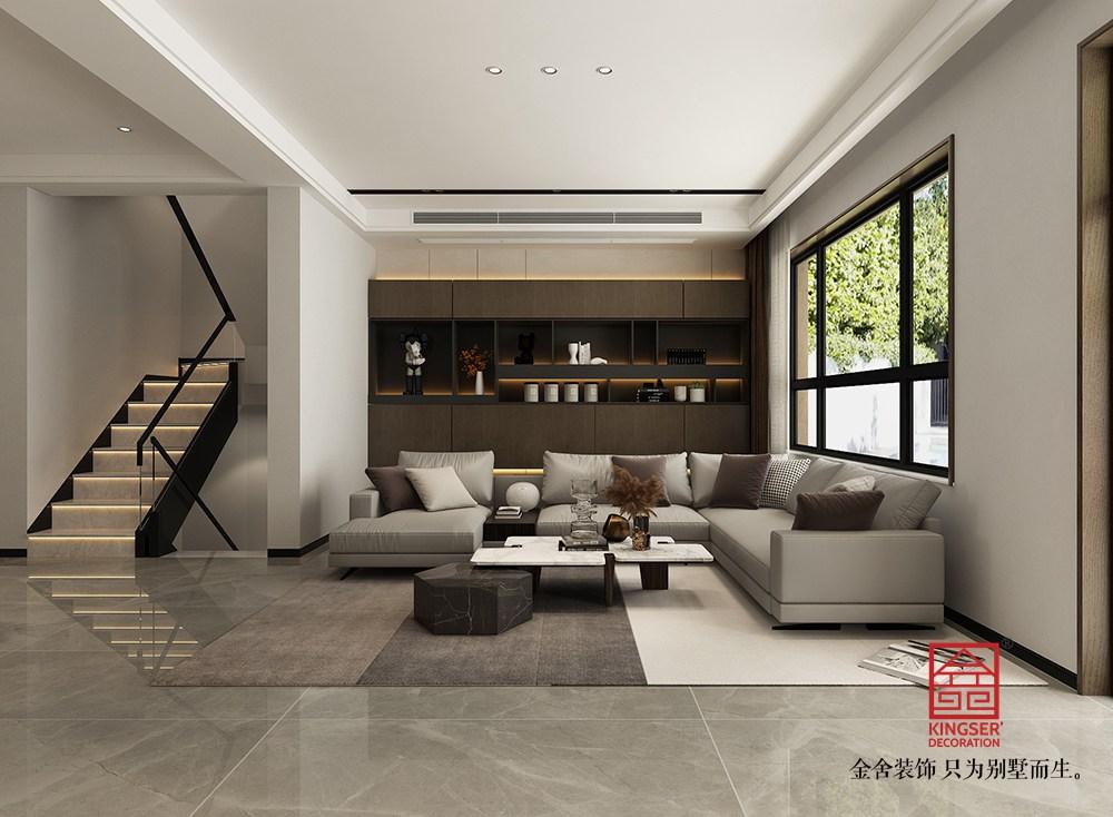开元府414平米现代风格装修-客厅