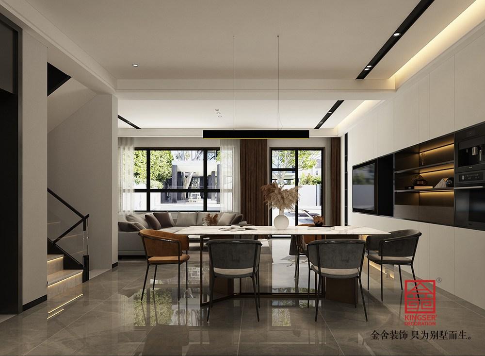 开元府414平米现代风格装修-餐厅