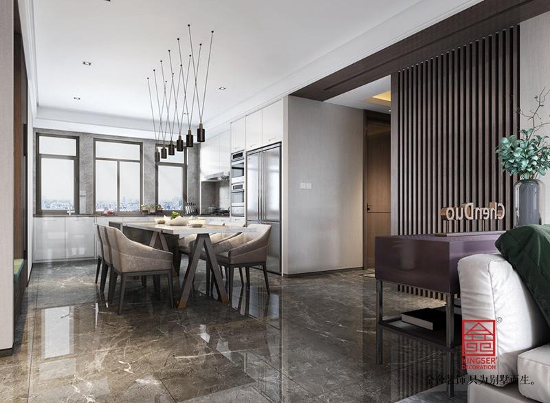 平山自建别墅装修-现代风格-餐厅