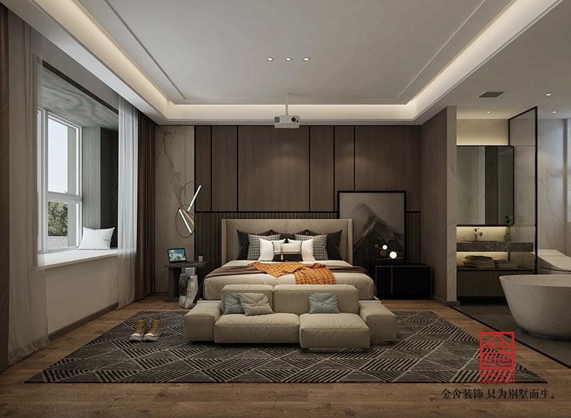 荣盛城140平米装修-现代极简-卧室