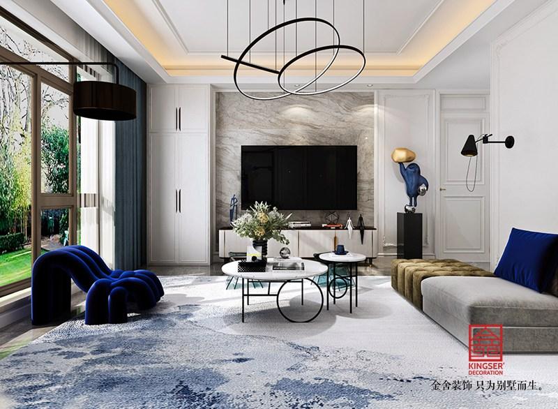 大者别墅200平米装修-现代法式-客厅