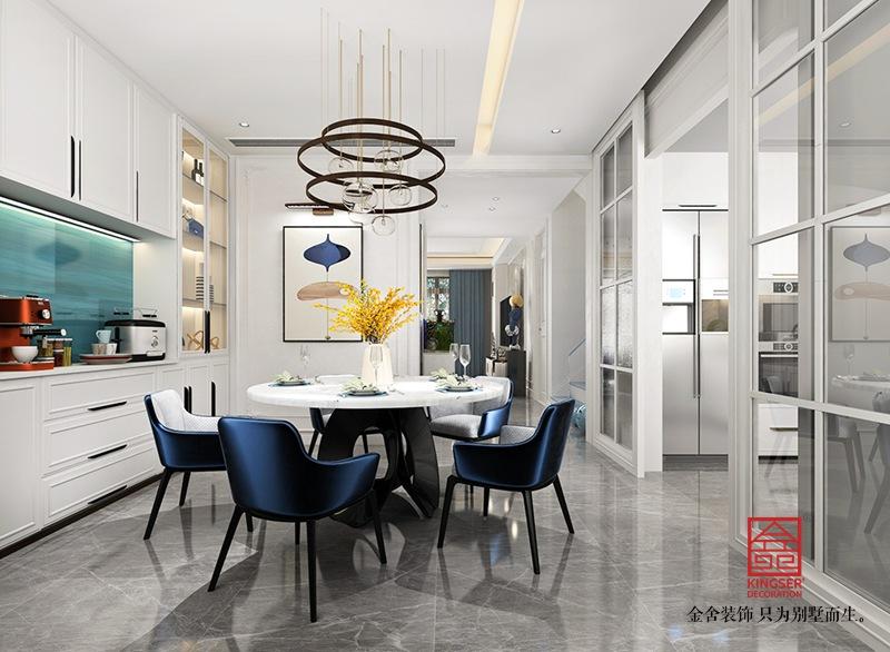 大者别墅200平米装修-现代法式-餐厅