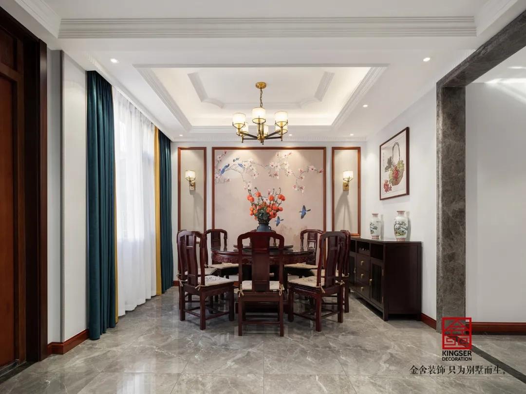 大者300平米新中式别墅装修-餐厅