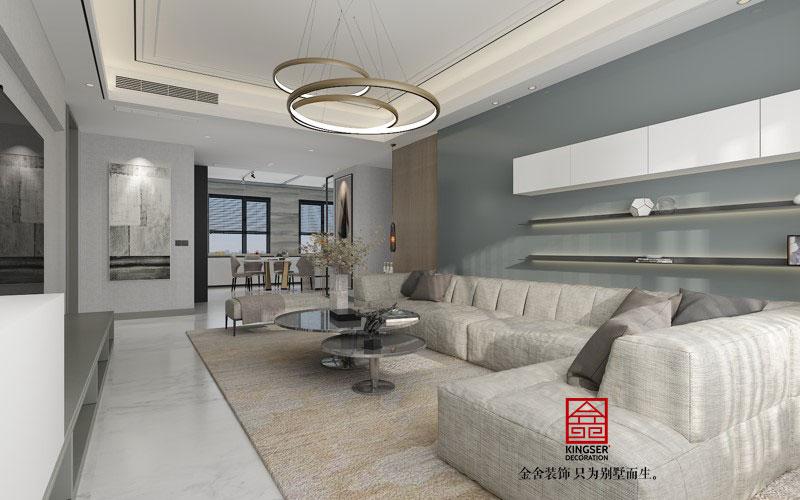 融创中心217平现代风格-客厅效果图