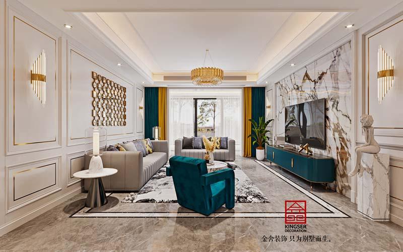 维多利亚178平现代轻奢-客厅