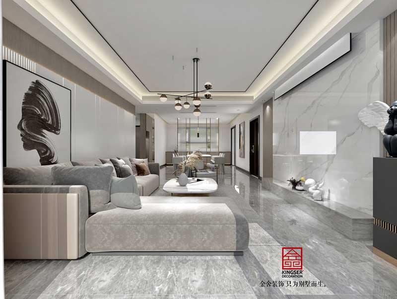 铂宫后海180平-现代轻奢-客厅