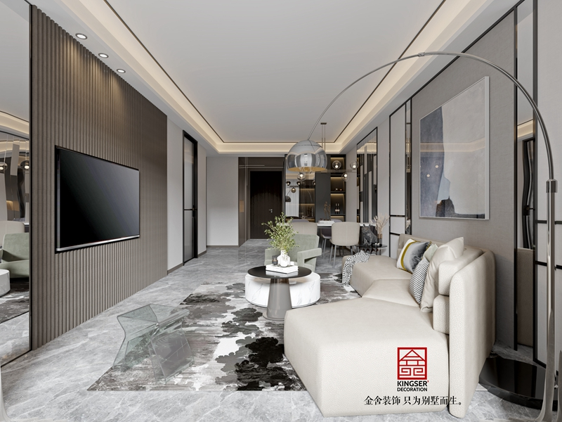 东南智汇城94平现代风格-客厅
