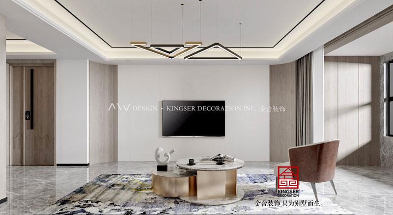 东南智汇城190平-现代简约-客厅