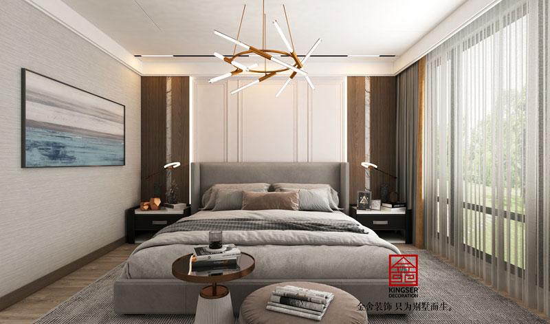 中央云著264平现代风格效果图-卧室