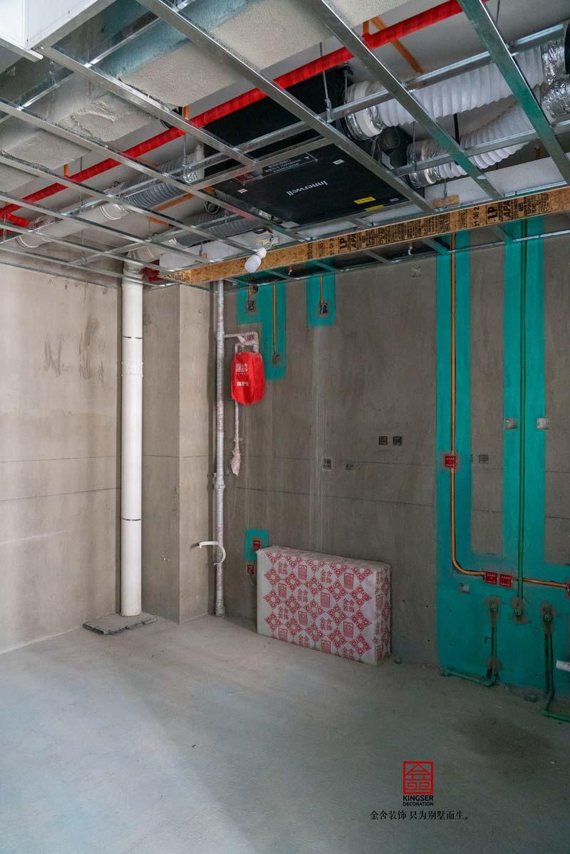国赫天著240平米水电在施工地