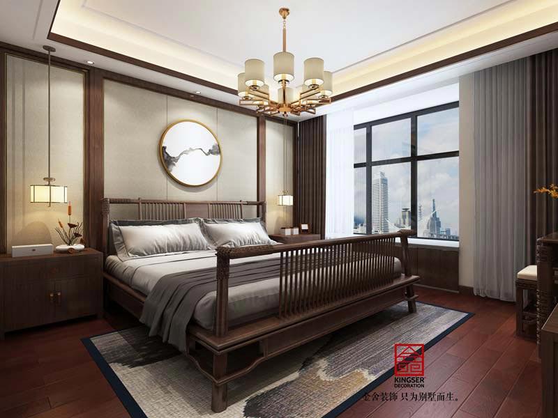 荣盛华府中式风格装修效果图-卧室