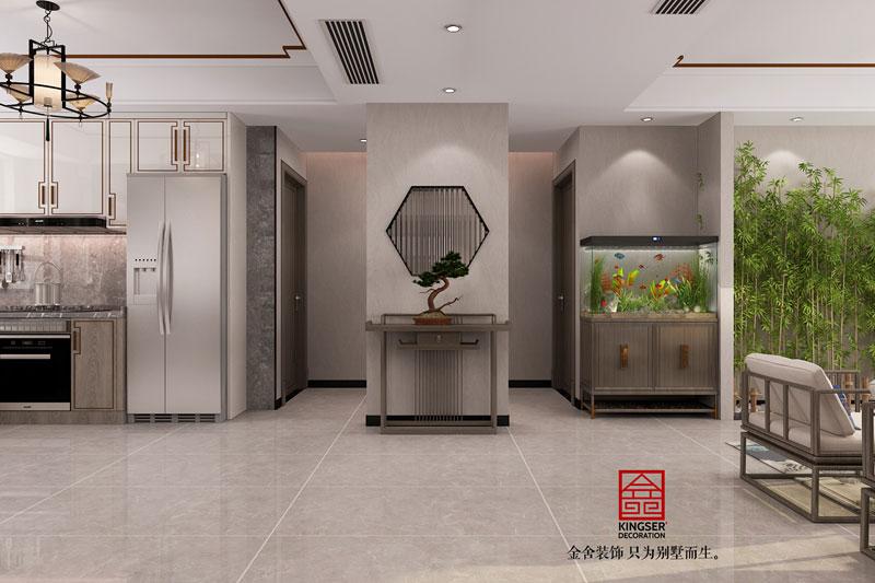 丽景蓝湾现代中式装修效果图-玄关