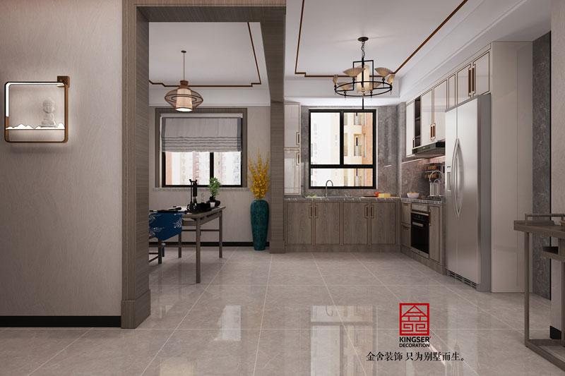 丽景蓝湾现代中式装修效果图-厨房