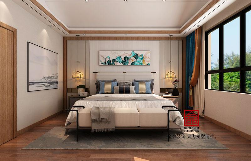 平顶山复式别墅装修效果图-卧室