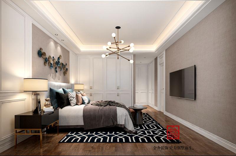 国赫天著现代轻奢风格装修效果图-卧室