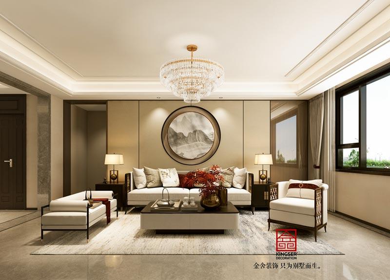 国赫天著中式风格装修设计-客厅