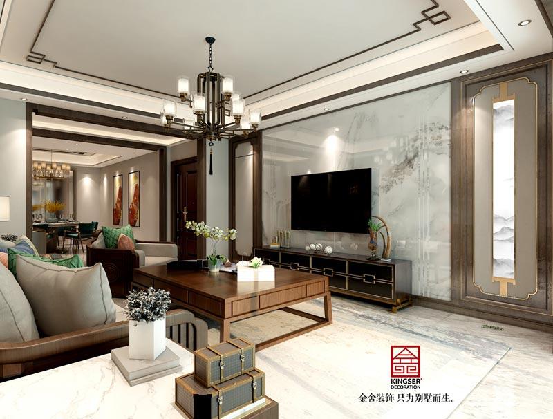 融创中心-中式风格装修-客厅