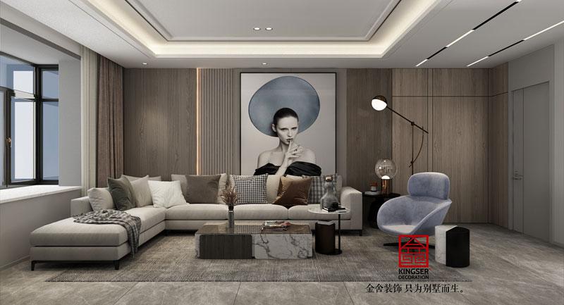 东南智汇城现代轻奢风效果图-客厅