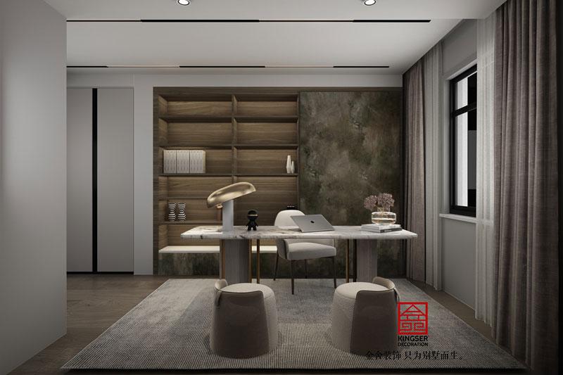 东南智汇城现代轻奢风效果图-书房