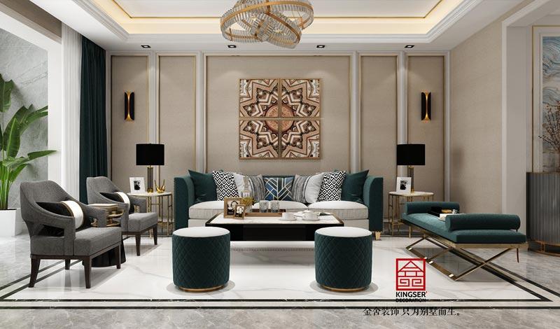 融创中心180平米装修设计-客厅