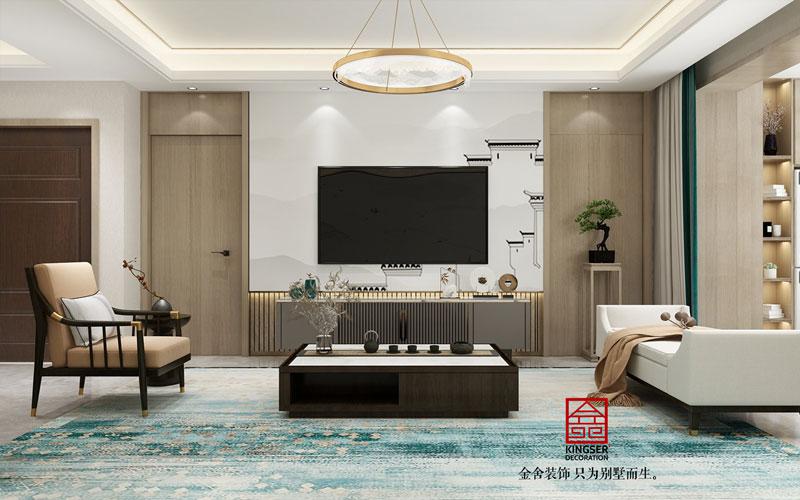 融创中心180平米装修设计-客厅效果图