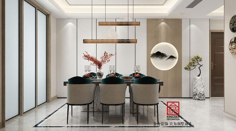 融创中心180平米装修设计-餐厅效果图