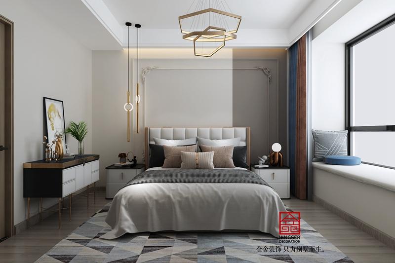 远洋晟庭现代风格装修设计-卧室