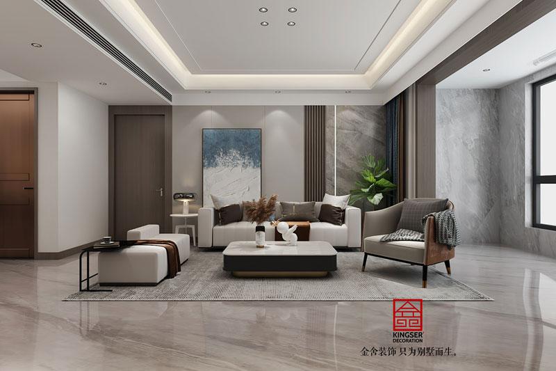 远洋晟庭170平装修效果图-客厅