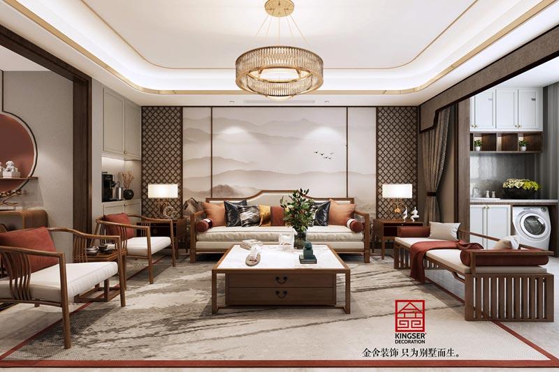 东南智汇城新中式风格效果图-客厅