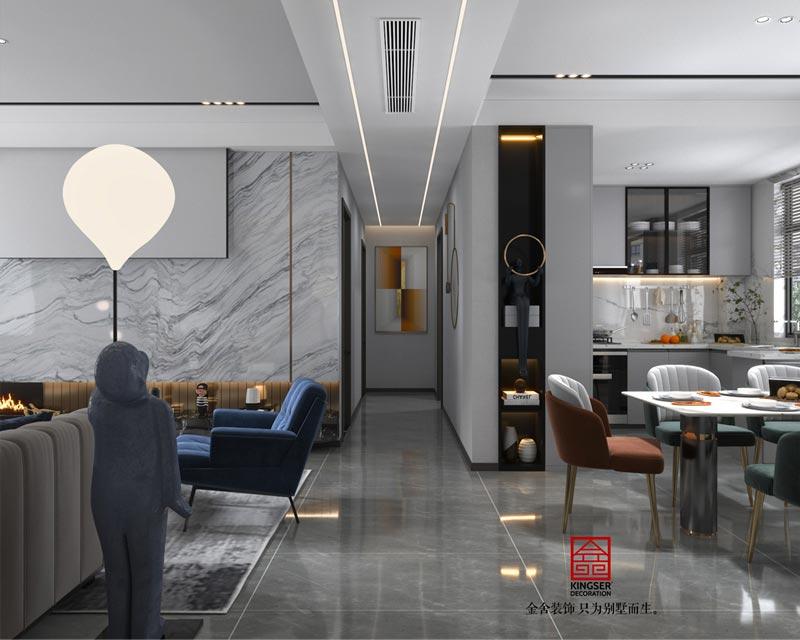 融创中心127平米装修设计-玄关效果图