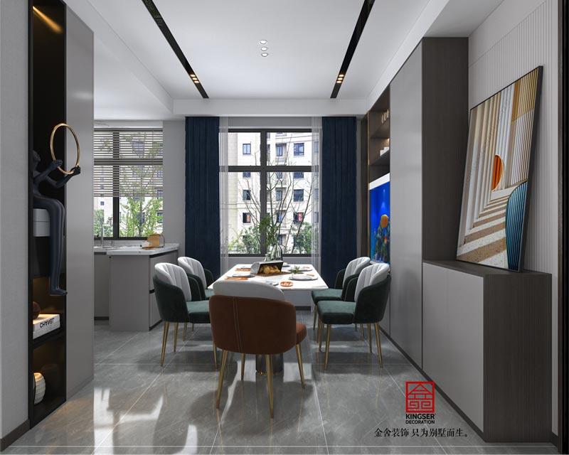 融创中心127平米装修设计-餐厅效果图