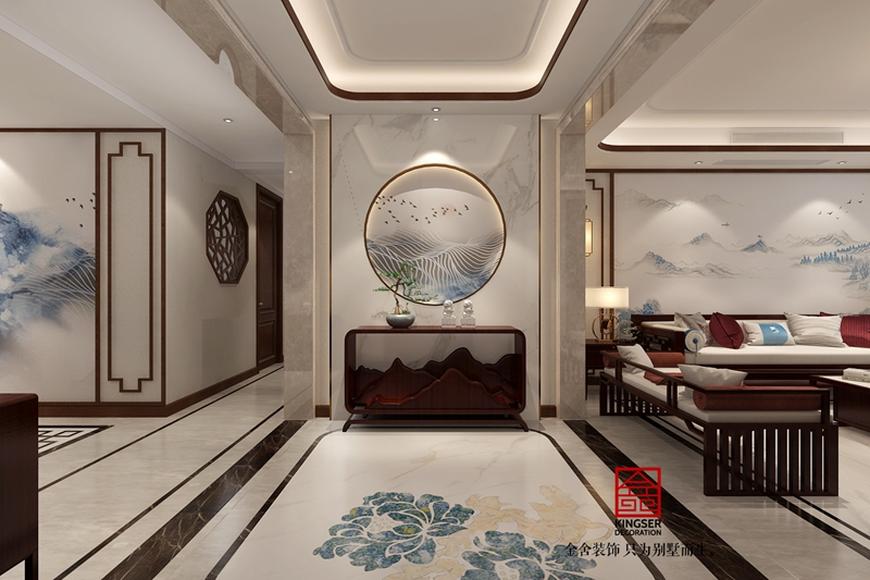 东南智汇城新中式风格装修-玄关