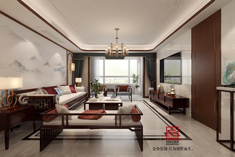 东南智汇城新中式风格装修-客厅