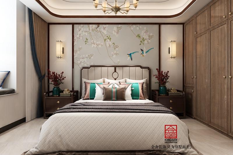 东南智汇城新中式风格装修-卧室