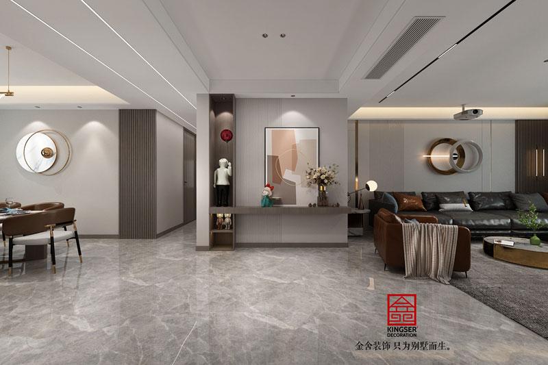 东南智汇城装修设计轻奢风格-玄关