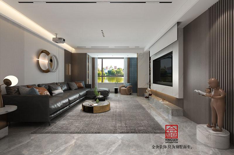 东南智汇城装修设计轻奢风格-客厅