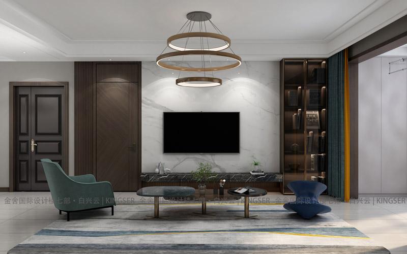 万合名著装修设计-客厅效果图