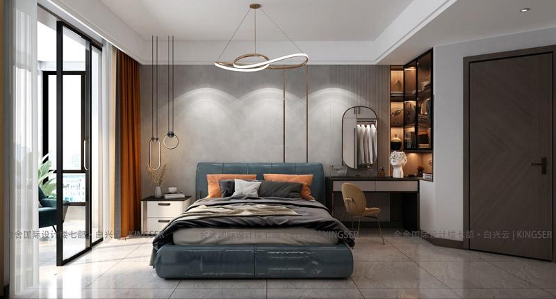 万合名著装修设计-卧室效果图