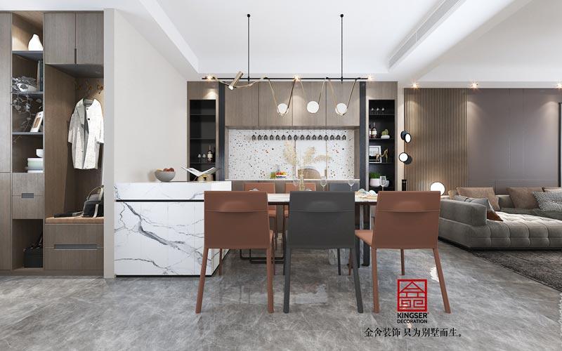东南智汇城98㎡轻奢风格效果图-厨房