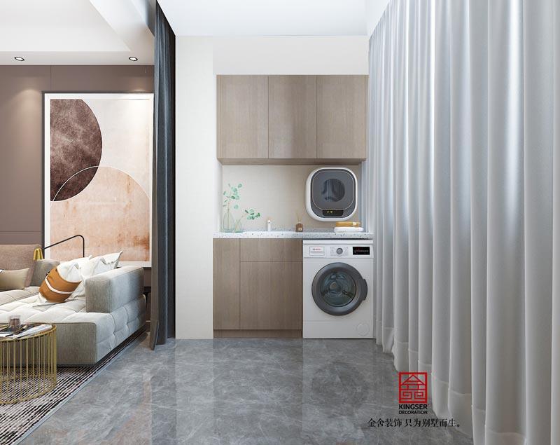 东南智汇城98㎡轻奢风格效果图-阳台