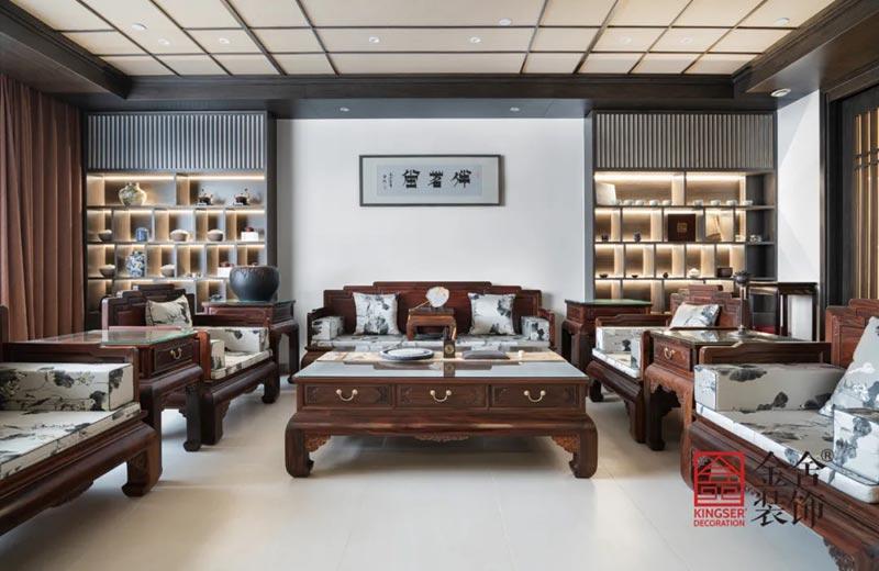 八马茶业新中式风格装修实景图-大厅